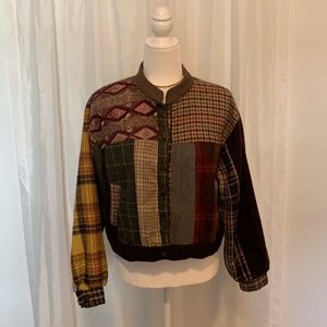 Sacred Threads Button Down  Boho Jacket Size Med